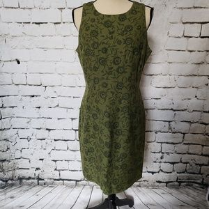 Maggy London Linen and Rayon Dress (size 8)